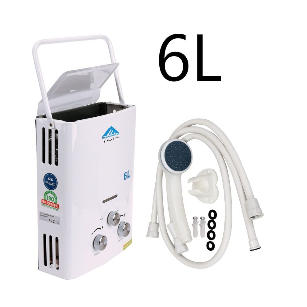 (Ship from EU) Hot sale 6L LPG Propane Gas Tankless Water Heater Instant Boiler + Shower Head 2017 direct flue type selling flue type lgp instant tankless 12l gas lpg hot water heater propane stainless 2800pa