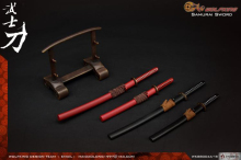 Collection Toy WOLFKINGWK 88004 1/6 Scale Ancient Weapon SAMURAI SWORD Model with Stand for 12 inches Action Figure	1/6 BJ
