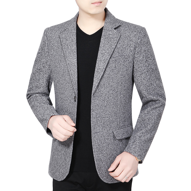 In The Autumn Of 2019 The New Men's Leisure Suit Fashion Single Single West Two-button Suit No Split Cultivate One's Morality