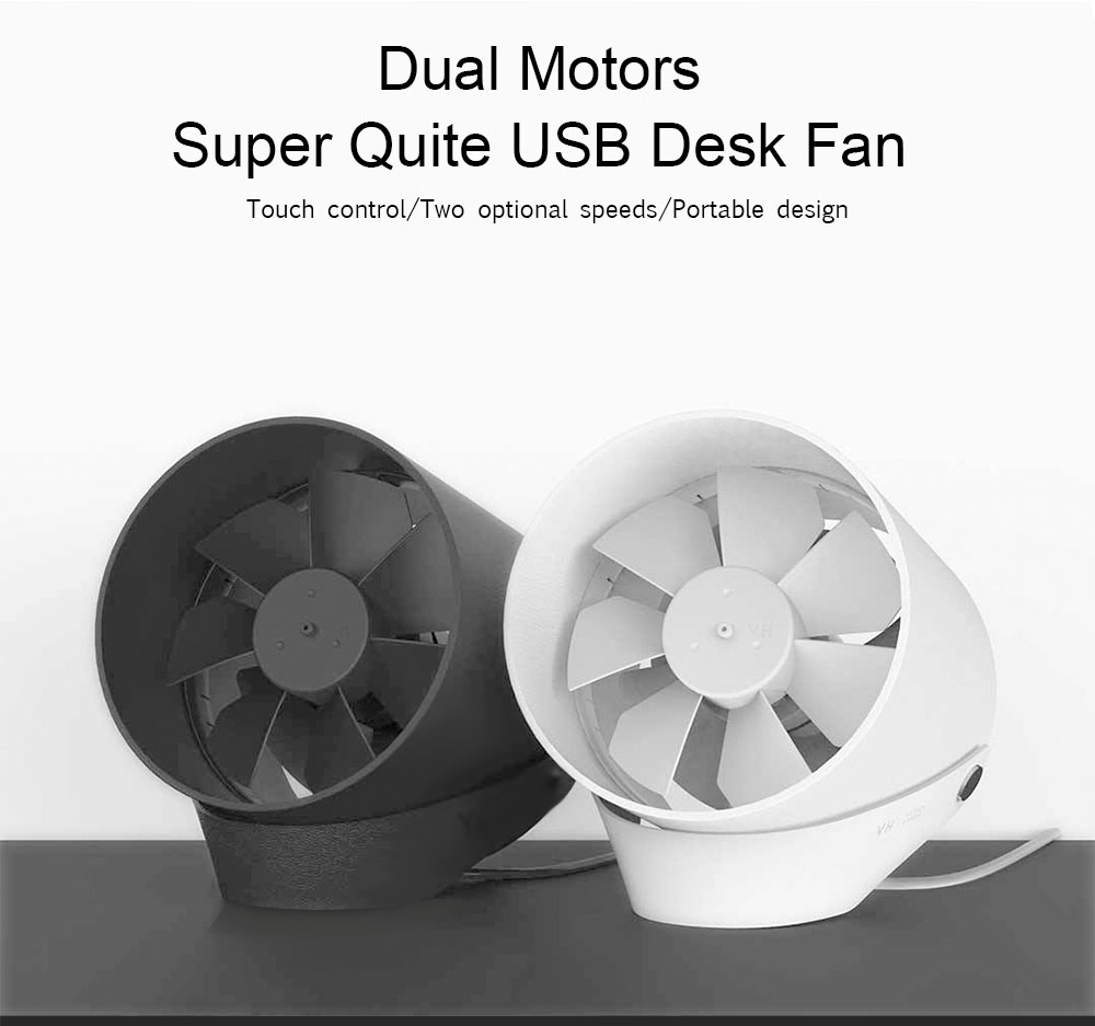 RG VH Mini Small Super Quiet Touch Ultra Air Cooler USB Power 2-Mode Table Fan