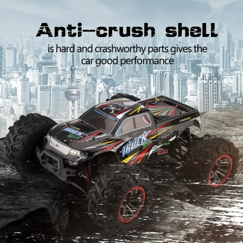 1:10 RC car RC Four-Wheels Drive 2 Motors Car Remote Control Model 46km/h Vehicle 2.4GHz frequency tires waterproof Truck Toy mxfans rc 1 10 2 2 crawler car inflatable tires black alloy beadlock pack of 4