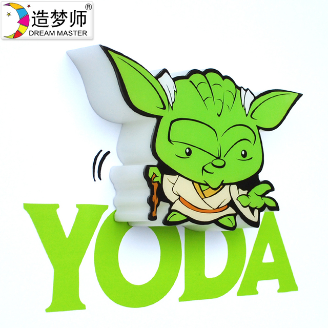 Star Wars R2D2 YODA Trooper Darth Vader 3D Cartoon Wall