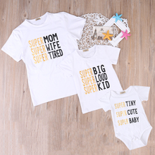 2017 New Family Match Clothes Summer Short Sleeve T-shirt Tops Women Kids Girls Boys Tshirt Baby Romper Outfit Clothing
