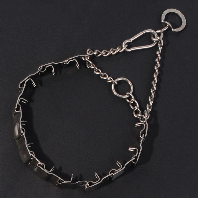 La formation réglable professionnelle de chien de pincement en métal d'acier inoxydable stimulent des colliers de starter d'animal familier de collier de chaîne pour de grands chiens