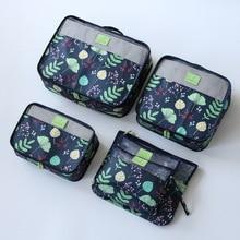 Купить с кэшбэком New 6pcs/set High Quality Women Travel Luggage Bag Zipper Waterproof Nylon Organizer Packing bag Cube Ladies Travel Bags