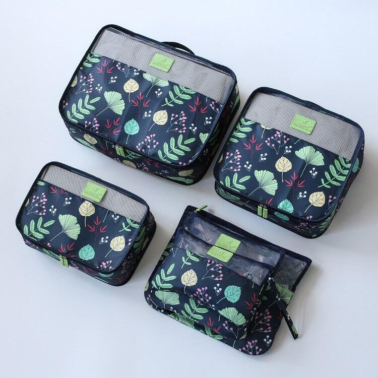 New 6pcs/set High Quality Women Travel Luggage Bag Zipper Wa