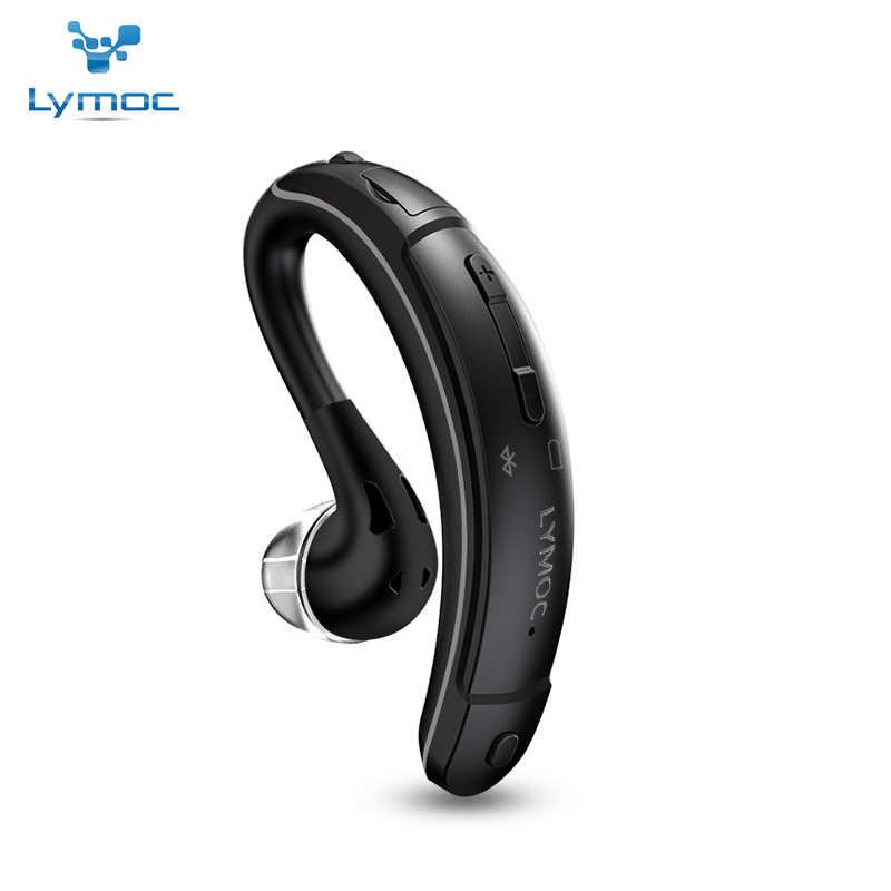 LYMOC سماعات لاسلكية بلوتوث الأذن هوك سماعة أذن للهاتف الرياضة محرك ركوب MIC يدوي CSR4.1 8-10 h العمل لجميع الهواتف