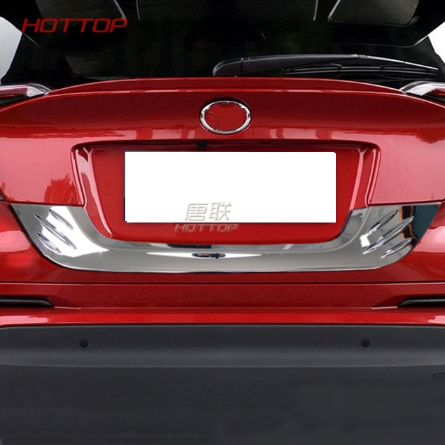 Fit for Toyota C-HR CHR 2017 2018 Rear License Plate Trunk Trim Cover Molding ABS Chrome Car Accessories rear spoiler rear trunk wing cover trim for toyota c hr chr 2017 2018 abs chrome carbon fibre stickers car styling accessories