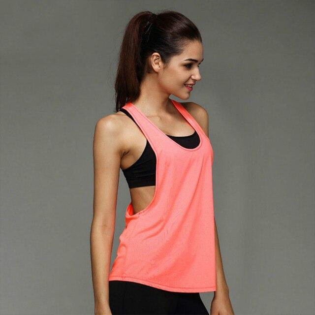41b7bba15330c Damska koszulka odzież sportowa joga koszula Fitness odzież sportowa  garnitur kamizelka bez rękawów kobiety Running joga