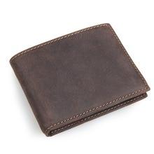 лучшая цена High Quality 100% Real Cow Leather Men's Wallet Credit Card Holder 8108R