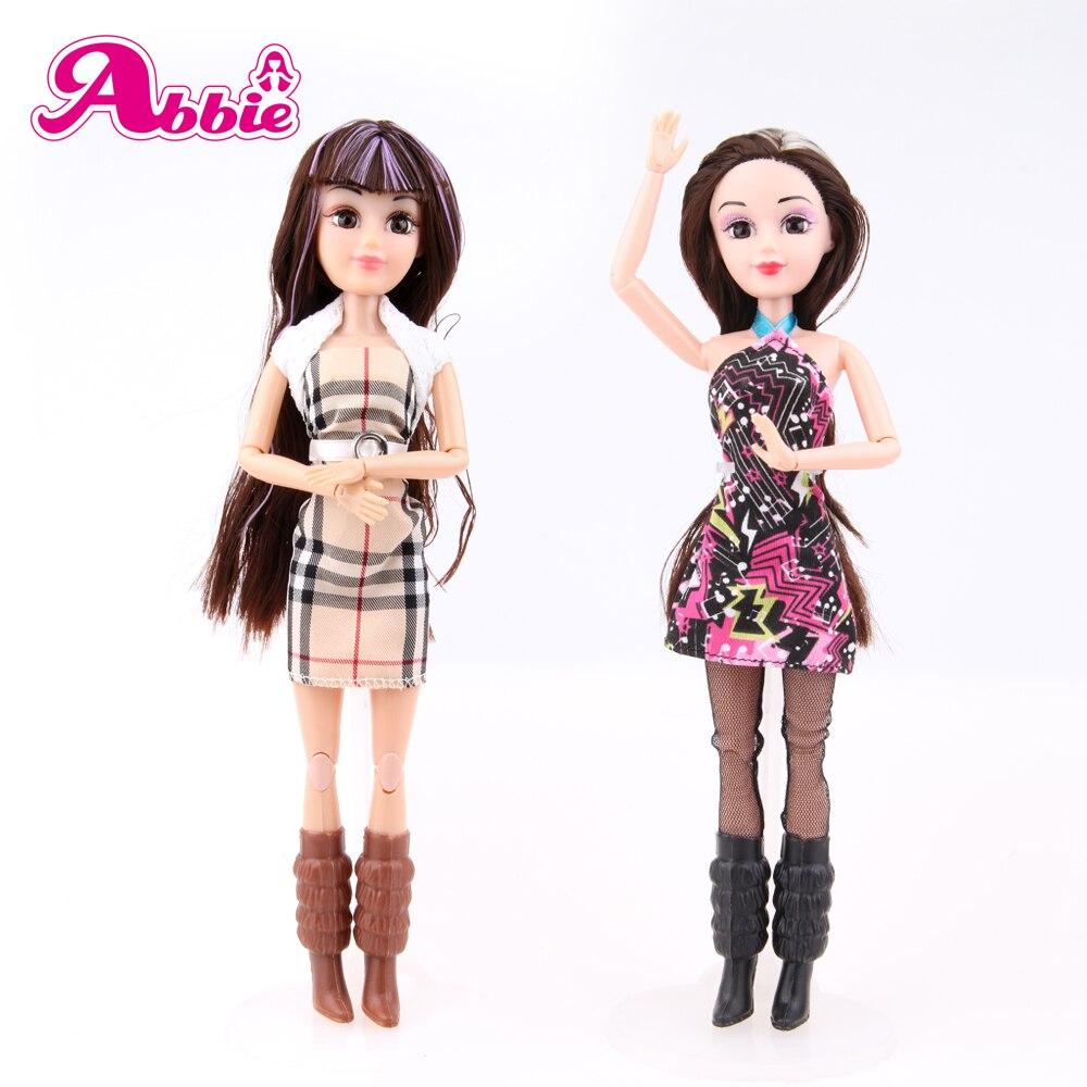 アビー·人形高品質ファッションデザインアクティブ人形現実的な目好きな赤ちゃんのおもちゃdiy服教育ギ.