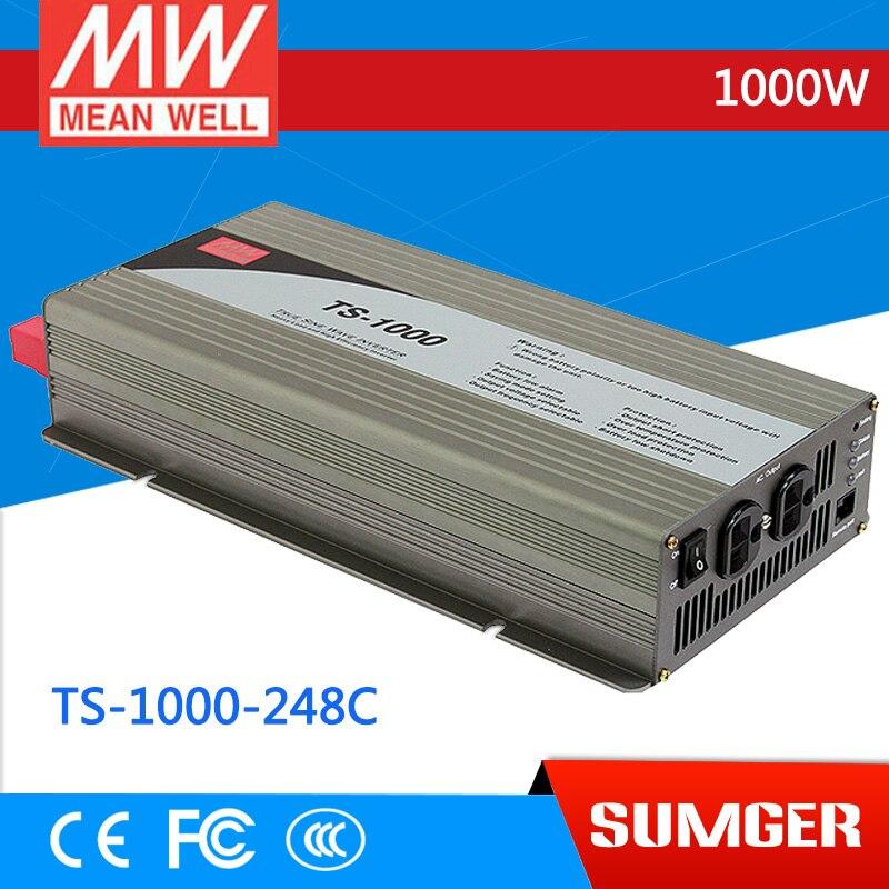 1MEAN WELL original TS-1000-248C  230V meanwell TS-1000 1000W True Sine Wave DC-AC Power Inverter стоимость