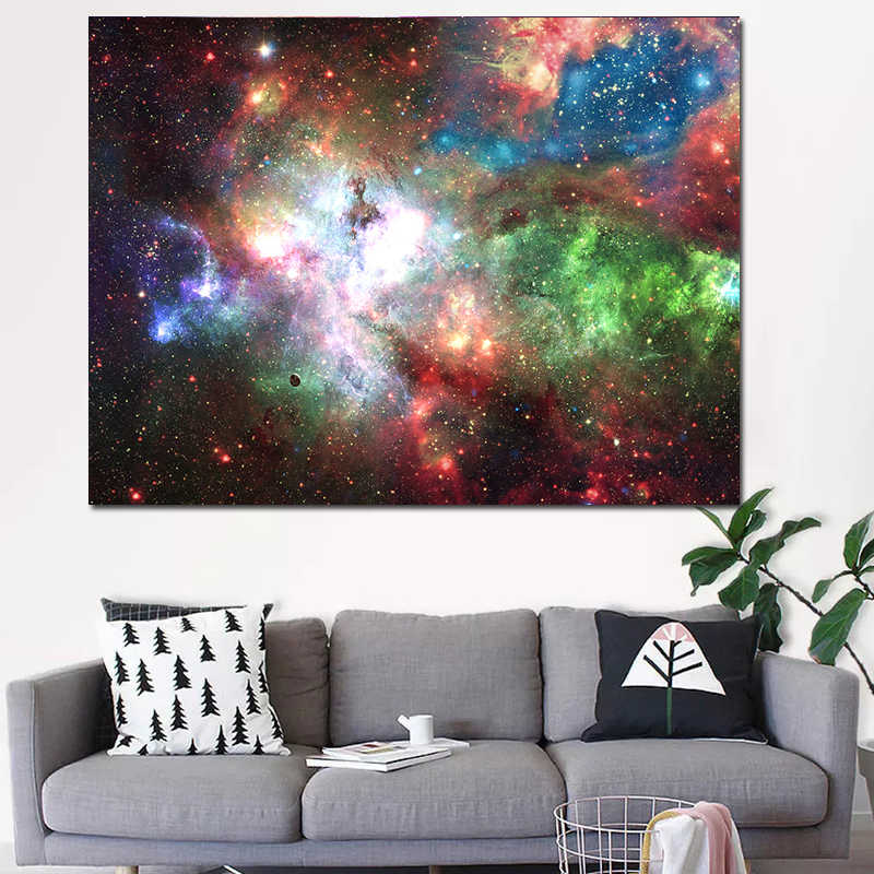 RELIABLI ART Colorful Starry star landscape Painting Unframed Picture Oil Paintings Waterproof Ink print Living Room Decoration