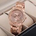 Кристаллы роскошные Платья Женщин Часы Кварцевые Женева Марка Полная Сталь Наручные Часы Моды Аналоговые Часы водонепроницаемые Relojes NW1922