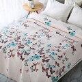 Разноцветное элегантное Европейское мягкое летнее одеяло с принтом бабочки стеганое покрывало/одеяло/летнее одеяло # sw