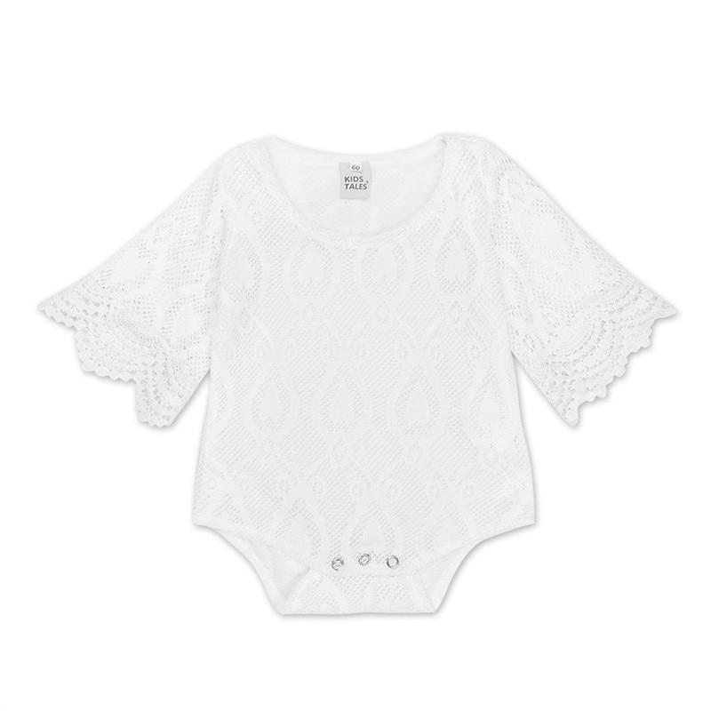 2018 Tosleo Baby Girl Body Koronkowe Biel Babysuit Koronki Noworodek - Odzież dla niemowląt - Zdjęcie 2