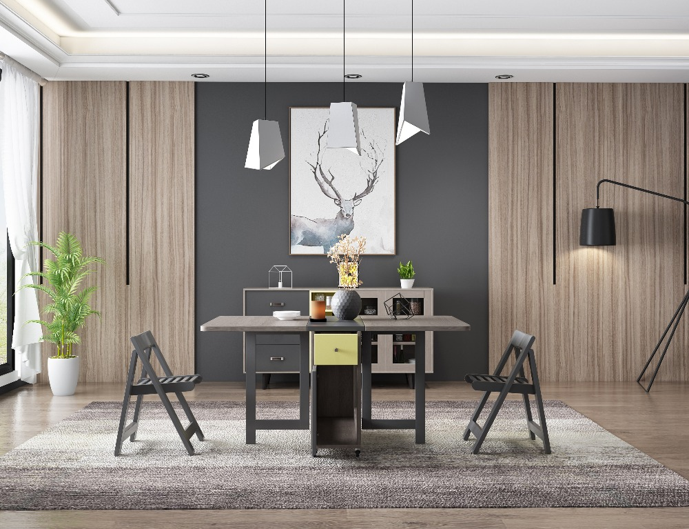 Fashion Folding Dining Table Furniture Yemek Masasi Multifunctional  Rectangle Dining Table With 4 Chairs In Dining Tables From Furniture On  Aliexpress.com ...