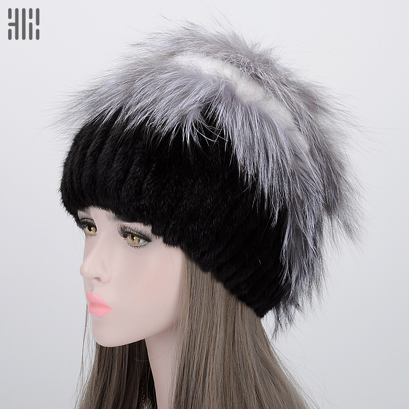 Winter Hat 2017 Top Women Fashion Special Offer Solid Adult Winter Fur Hat Natural Fox Autumn And Female Bomber Complete Mink