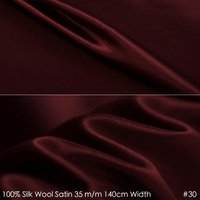 SILK WOOL SATIN 140cm Width 35mm 35 Silk 65 Silk Fabric Suits Material For Sewing 30