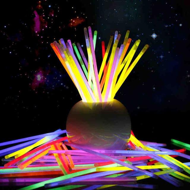 100pcs Mix Color Glow Stick luminous toys led glasses Necklace Bracelets  Fluorescent festival Party Supplies Concert