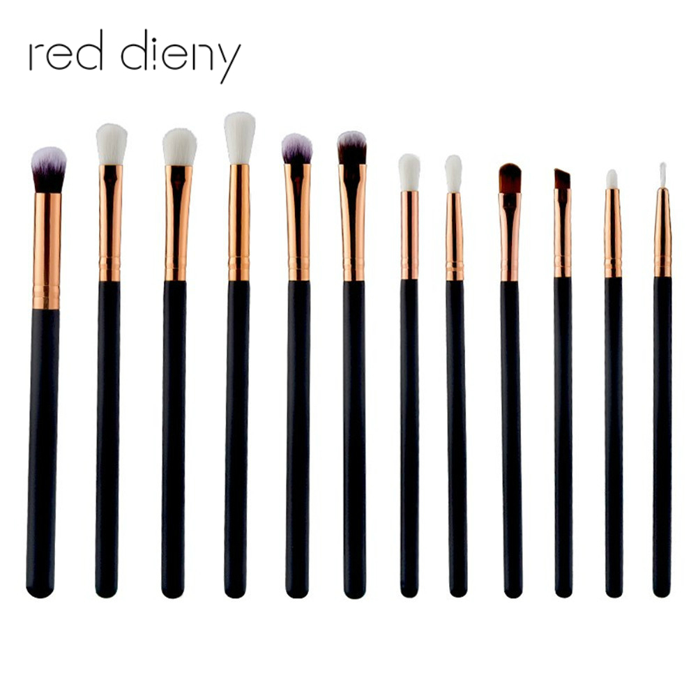 12pcs Eyeshadow Eyeliner Brushes Set Professional Powder Powder Blending Eyebrow Lip Cosmetics Brushes Beauty Makeup Tool Set