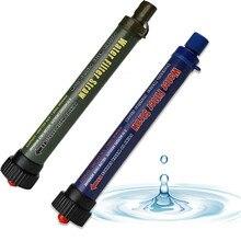 Filtro de água ao ar livre purificador com tubo extensão portátil caminhadas água potável mais limpo kit sobrevivência acampamento emergência