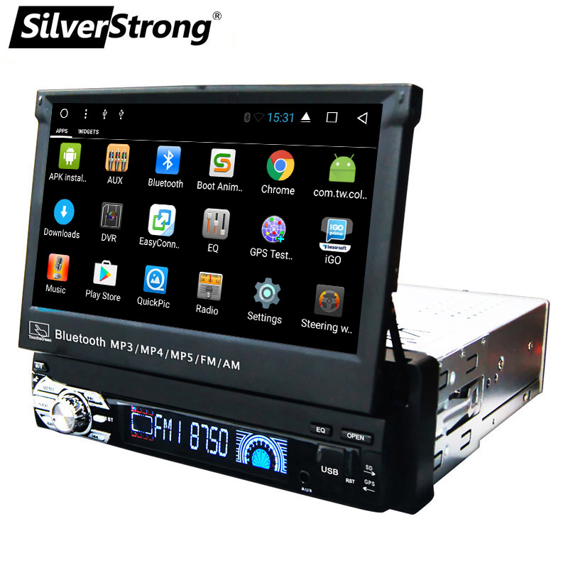 SilverStrong 1Din Android8 1 Universal 7inch Car DVD Auto Radio Android Car Stereo Universal multimedia by