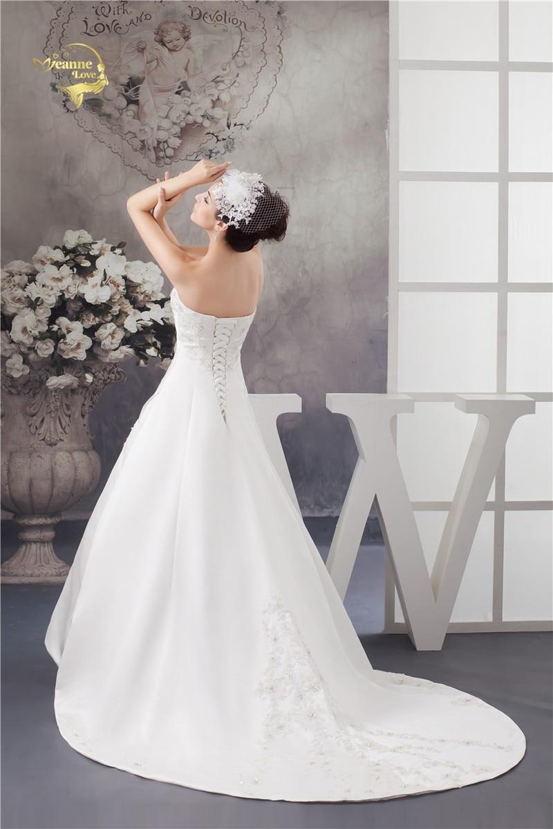 2016 Bílé / slonovinové Luxusní Vestido De Noiva Robe De Mariage - Svatební šaty - Fotografie 5