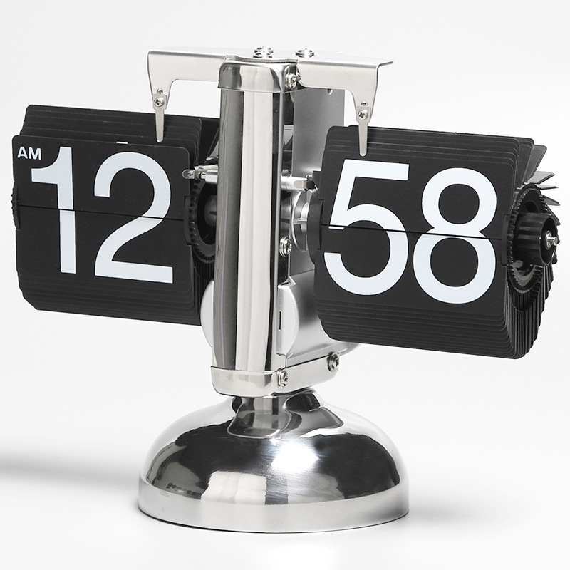 Металлический колокол часы замечательные резные баланс страница флип часы Ретро колокол творческий исследование Гостиная бутик украшения...