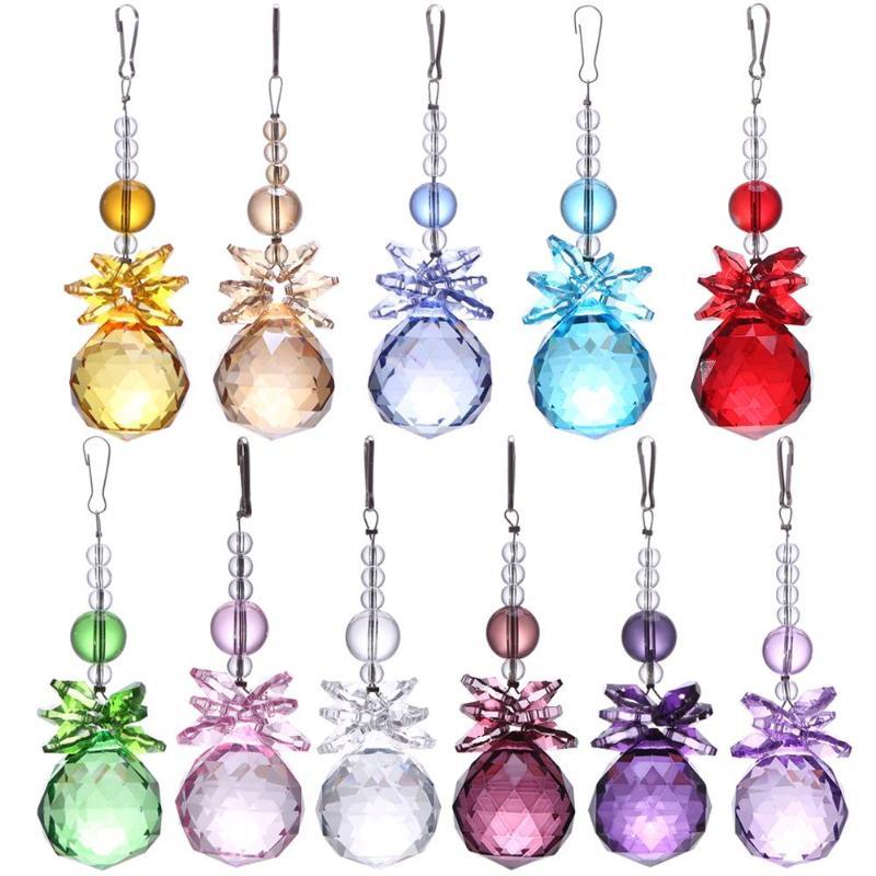 New Crystal Ball Chandelier Prisms Pendants Parts Suncatcher Rainbow Maker Hanging Drop Home Ornament Garden Suncatchers Gadgets