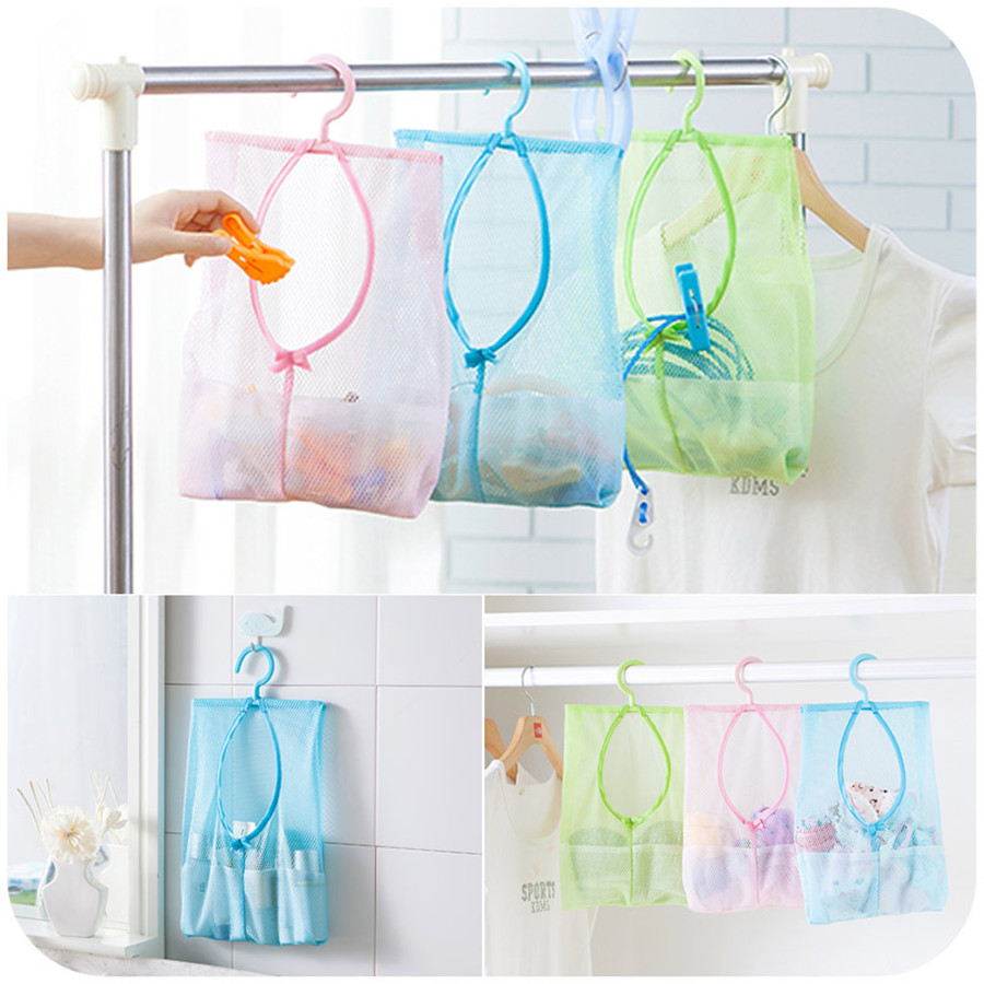 Genial 3pcs Creative Thicken Mesh Storage Bag Bathroom Organizer Kitchen Food  Container Hanging Bag Space Saver Pouch Home Storage
