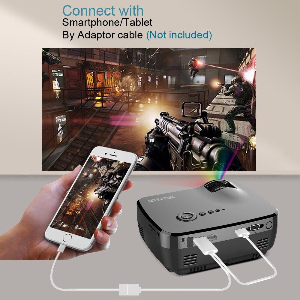 BYINTEK markası SKY GP70 Portativ Mini LED Kino Video Rəqəmsal HD - Evdə audio və video - Fotoqrafiya 3
