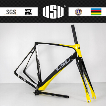 OEM T700c Full Carbon Road Bike Carbon Frame With Usu Decal 48cm/50cm/52cm/54cm Carbon Bicycle Frame(China)