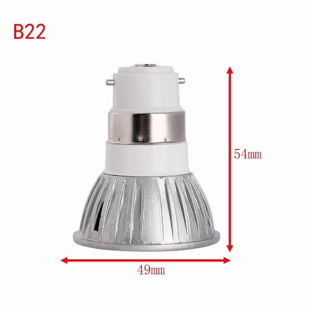 Super jasne ściemniania reflektory punktowe LED 3 W GU 10 E12 E14 E27 B22 GU5.3 LED żarówki światła 110 V 220 V ciepły/zimny biały podstawa LED Downlight