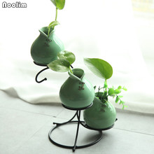Metal Frame Flowers Shelving Ceramic Vase Home and Garden Decoration