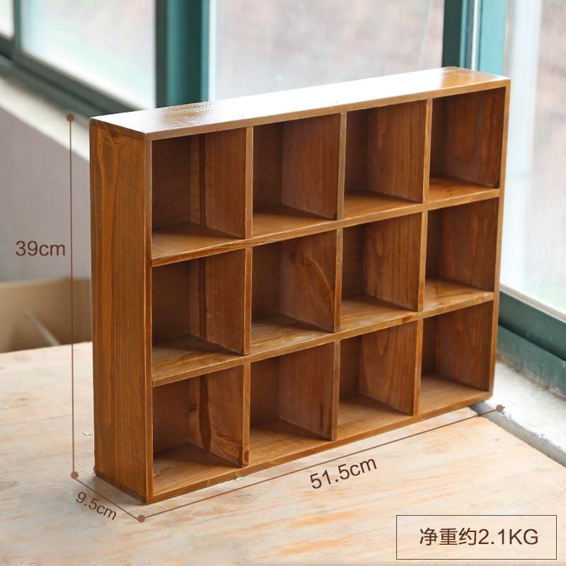 1 Pza Retro Multi capa De Madera Muebles de almacenamiento caja de almacenamiento gabinete de pared de almacenamiento caja de exhibición para el hogar Hecor - 3