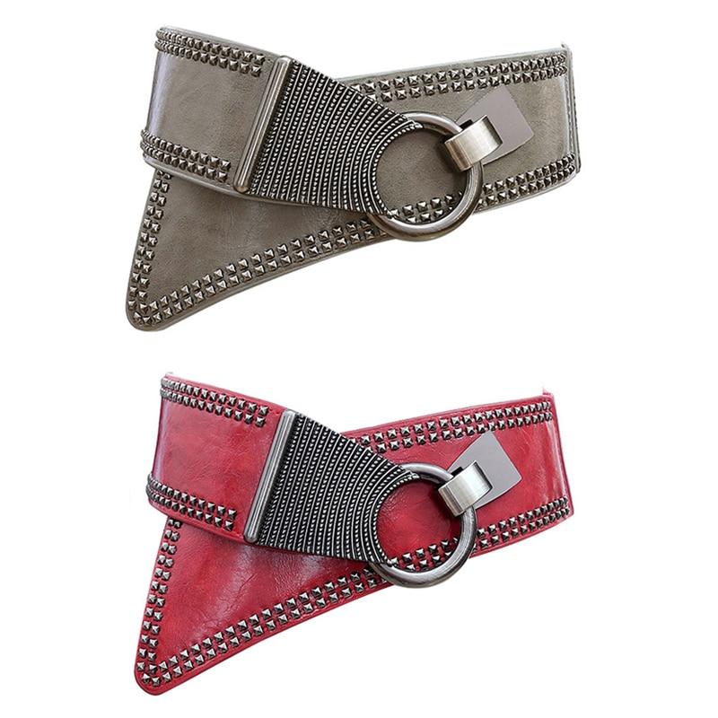 Maikun Fashion Punk Rocker Wide Belts voor dames Elastic Wide - Kledingaccessoires - Foto 2