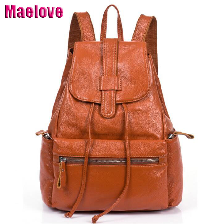 Genuine Leather Backpack Women Designer bags High Quality Shoulder Bags New School Bags For Teenagers Girls