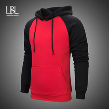 daee483a9a0 2019 Streetwear Patchwork Hip Hop Hooded Sweatshirts Autumn Solid Slim Fit  Casual Mens Hoodies Warm Fleece