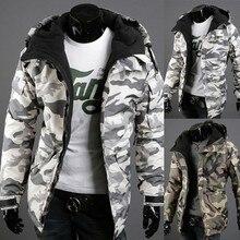 2016 New Arrival Fashion Design Winter Jacket Men,Cotton Campera Hombre Parkas Hooded Coat Camouflage Men Jacket ,MC298