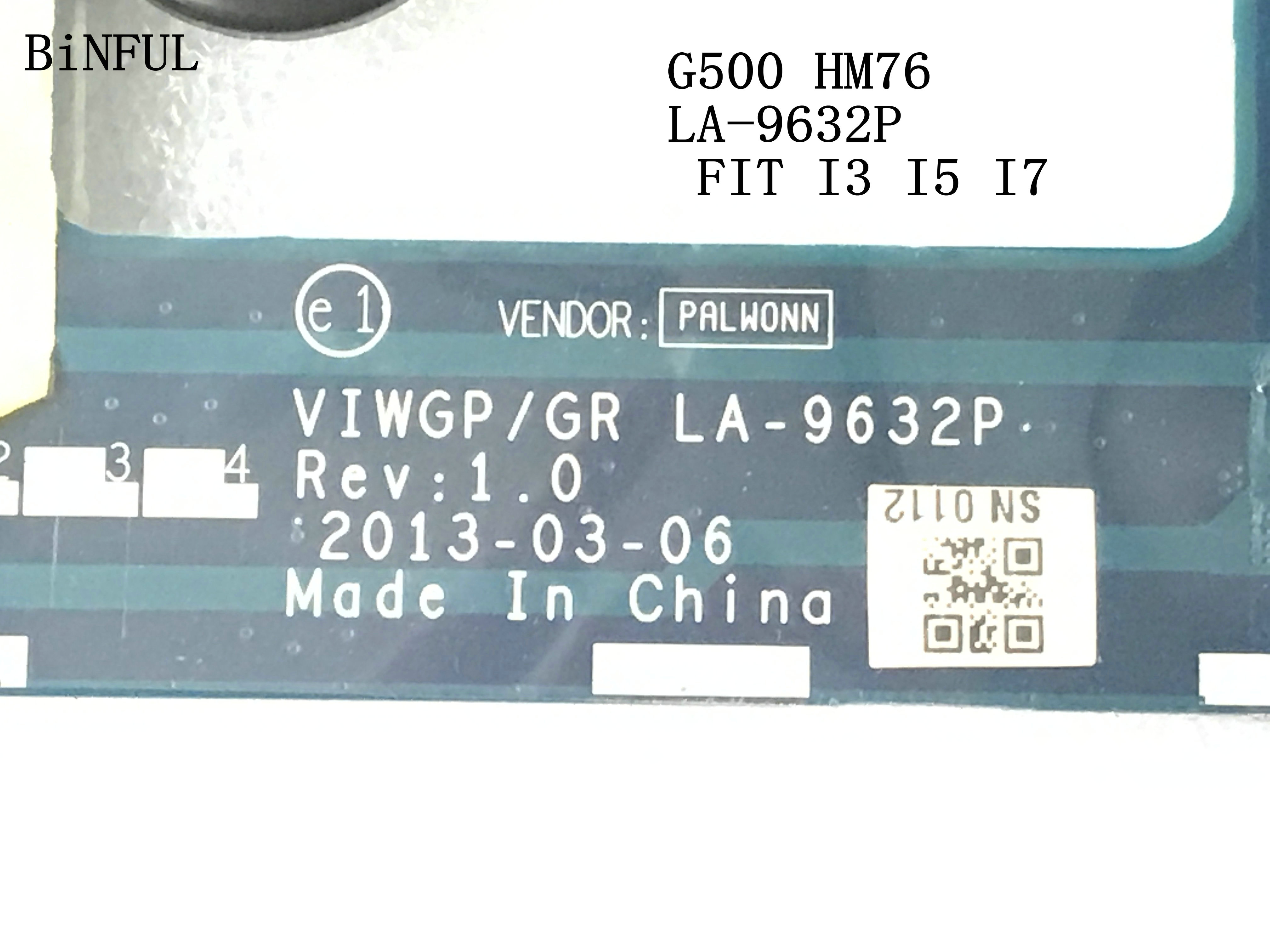 BiNFUL 100 NEW VIWGP GR LA 9632P LAPTOP MOTHERBOARD FOR LENOVO G500 NOTEBOOK PC MAINBOARD SUPPORT