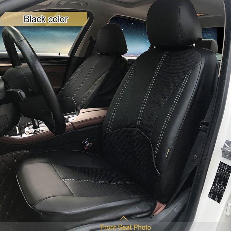 1 ensemble Nouveau de voiture housse de siège en cuir Pu matériel fabriqué par la housse de siège Noir couvre siege de voiture universelle pour la voiture volvo pour la voiture nissan - 6