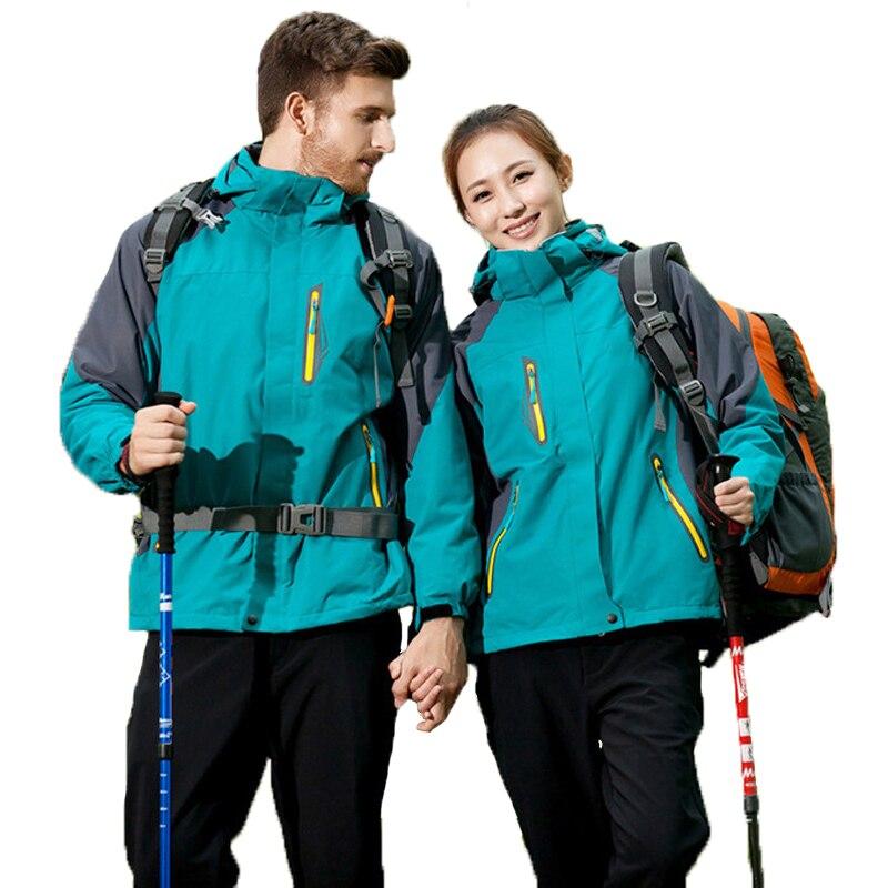 Veste de Ski hommes femmes hiver Sports de plein air randonnée imperméable polaire cyclisme coupe-vent vestes femme mâle grande taille manteau chaud