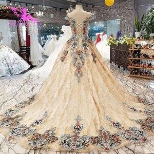 Image 4 - AIJINGYU robe de mariée espagne robes Plus bride gothique clairance mariée et prix robe de mariée à manches longues Photo réelle