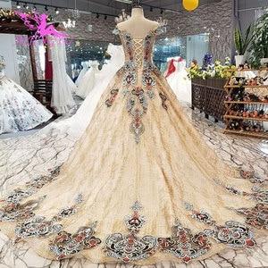 Image 4 - Aijingyu 웨딩 드레스 스페인 가운 플러스 bridle 고딕 통관 신부 및 가격 가운 웨딩 긴 소매 진짜 사진