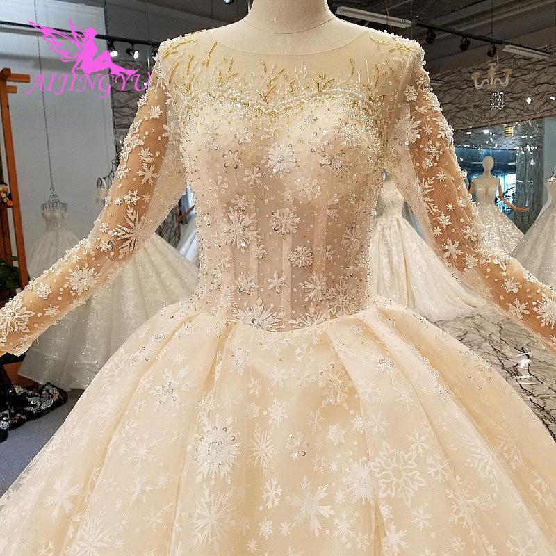 Image 2 - AIJINGYU Modern Wedding Dress Gowns Underskirt Summer Romantic Sexy Lace 2019 Marriage Vintage Brush Bridal Wedding DressesWedding Dresses   -
