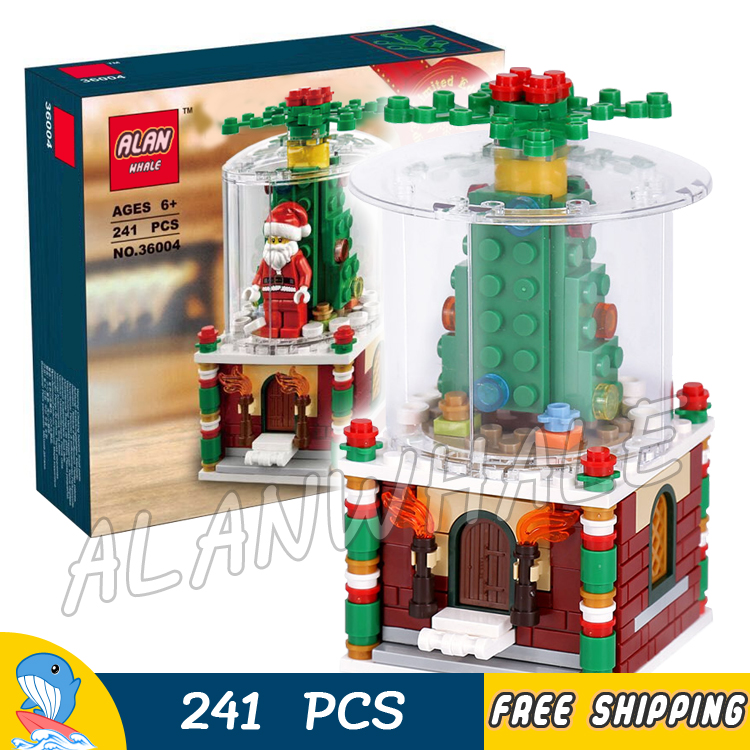 241pcs New Winter Holiday Snowglobe Santa 36004 DIY Model Building Kit Blocks Gifts Children Toys Bricks Compatible With lego 890pcs new ninja lair invasion diy 10278 model building kit blocks children teenager toys brick movie games compatible with lego