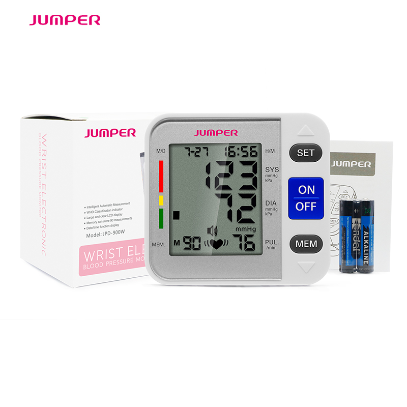 Jumper Health Care LCD Digital Wrist Blood Pressure Monitor Meter CEFDA Tonometer Tensiometro Automatic Cuff Sphygmomanometer