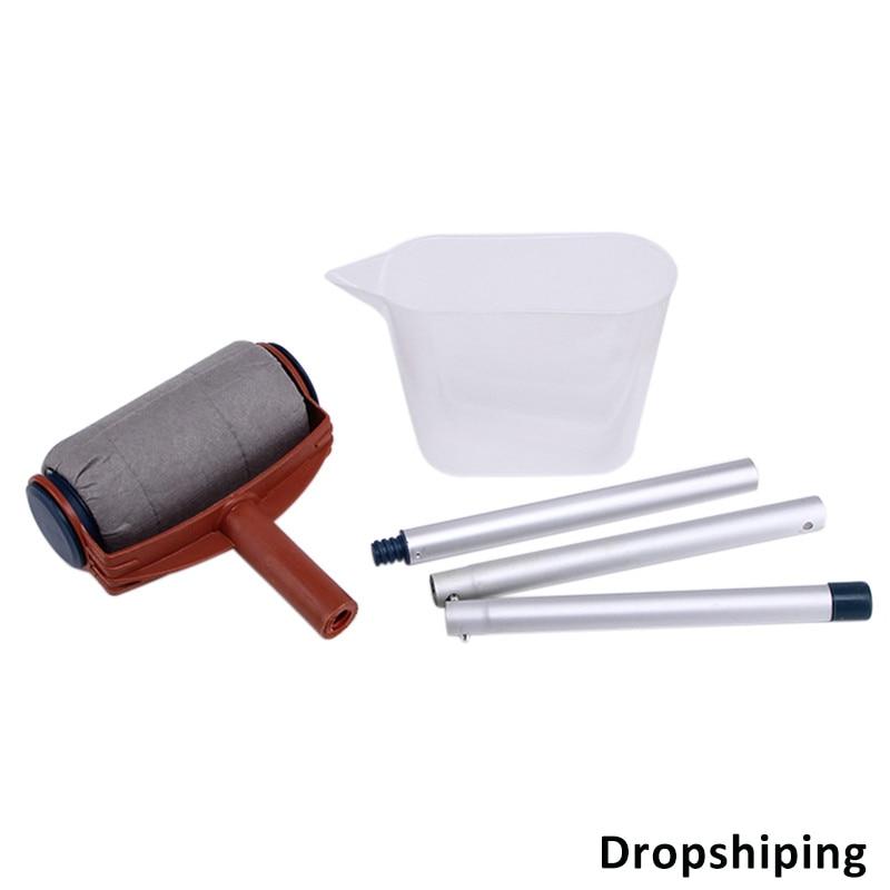 5 piezas hogar DIY rodillo de pintura corredor cojín para la pared decoración pintura cepillo de pintura herramienta Dropshipping