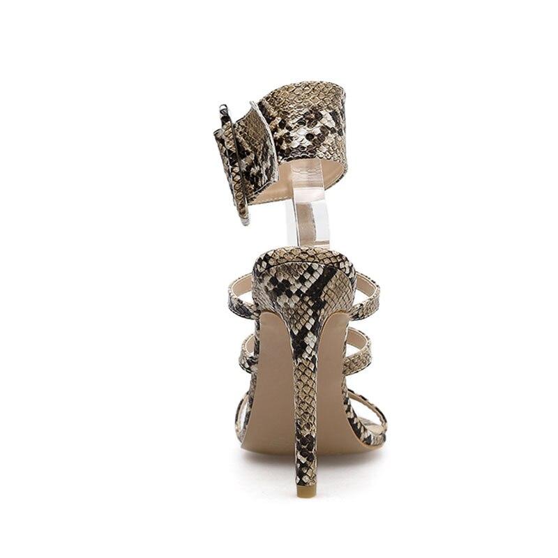 Chaussures Bellinsley Bukle Dames Femmes Style Rome De D'été Sandales Talon Gray Pour Courroie Serpent Sangle beige Mode Gladiateur Imprimé rqxIwHvzar